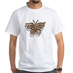 Gold Butterfly White T-Shirt