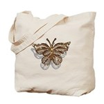 Gold Butterfly Tote Bag