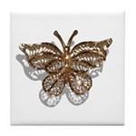 Gold Butterfly Tile Coaster