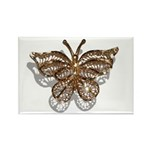 Gold Butterfly Rectangle Magnet (10 pack)