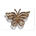 Gold Butterfly Postcards (Package of 8)