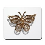 Gold Butterfly Mousepad
