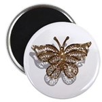 "Gold Butterfly 2.25"" Magnet (100 pack)"