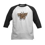 Gold Butterfly Kids Baseball Jersey