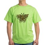 Gold Butterfly Green T-Shirt