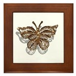 Gold Butterfly Framed Tile