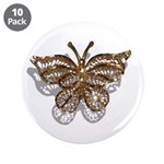 "Gold Butterfly 3.5"" Button (10 pack)"