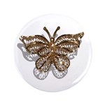 "Gold Butterfly 3.5"" Button"
