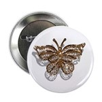 "Gold Butterfly 2.25"" Button"