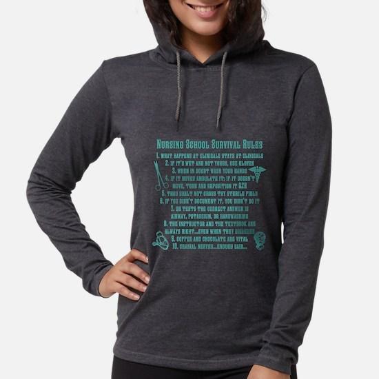 nursing school survival rules Long Sleeve T-Shirt