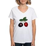 Cherries Women's V-Neck T-Shirt