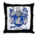 Philips Coat of Arms Throw Pillow