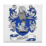 Philips Coat of Arms Tile Coaster