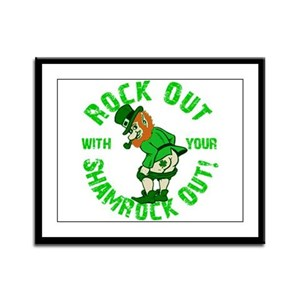 Rock Out with your Shamrock Out Framed Panel Print