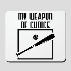 Baseball - WeaponOfChoice Mousepad