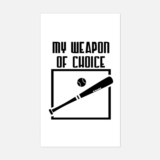 Baseball - WeaponOfChoice Rectangle Decal