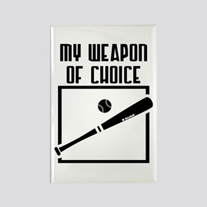 Baseball - WeaponOfChoice Rectangle Magnet