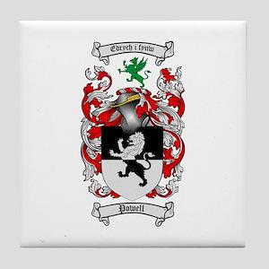 Powell Family Crest Tile Coaster