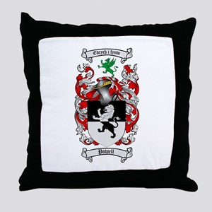Powell Family Crest Throw Pillow