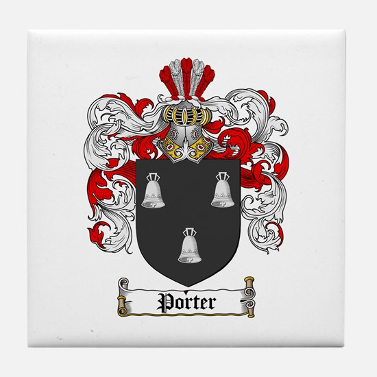 Porter Family Crest Tile Coaster