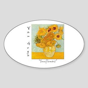 Sunflowers Oval Sticker