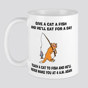 Teach A Cat To Fish Mug