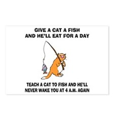 Teach A Cat To Fish Postcards (Package of 8)