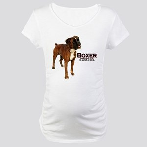 Boxer Dog Maternity T-Shirt