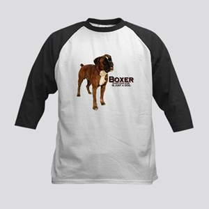Boxer Dog Kids Baseball Jersey