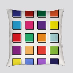 Colored blocks 2 Everyday Pillow