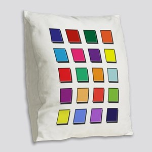 Colored blocks 2 Burlap Throw Pillow