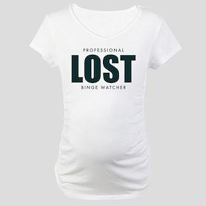 Lost TV Binge Watcher Maternity T-Shirt