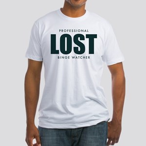 Lost TV Binge Watcher Fitted T-Shirt