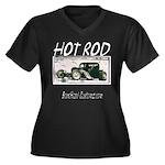 BHC HOTROD Women's Plus Size V-Neck Dark T-Shirt
