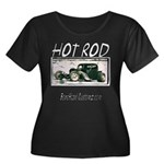 BHC HOTROD Women's Plus Size Scoop Neck Dark T-Shi