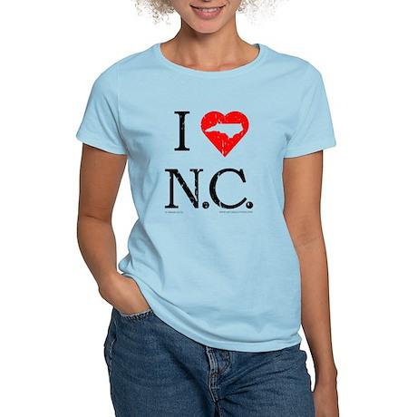 I Love NC Women's Light T-Shirt