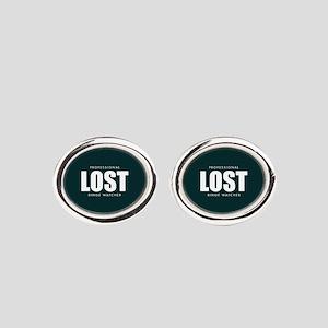 Lost TV Binge Watcher Oval Cufflinks