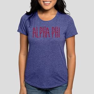 Alpha Phi Womens Tri-blend T-Shirt