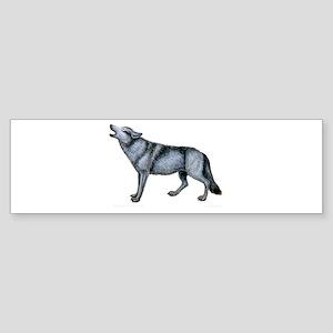 Howling Timber Wolf ~ Bumper Sticker