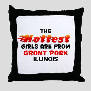Hot Girls: Grant Park, IL Throw Pillow