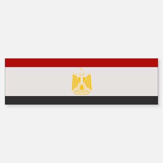 """Egypt Flag"" Bumper Bumper Bumper Sticker"
