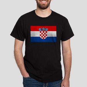 """Croatia Flag"" Dark T-Shirt"