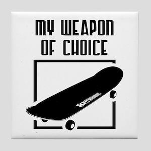 Skateboarding - WeaponOfChoice Tile Coaster