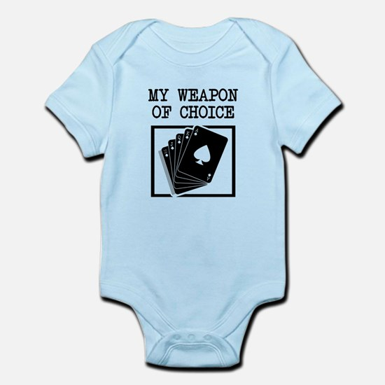 Poker - WeaponOfChoice Infant Bodysuit