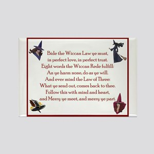 Wiccan Rede 2 Rectangle Magnet