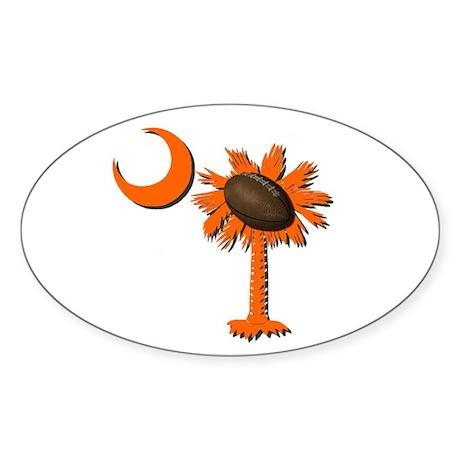 Clemson Football Oval Sticker