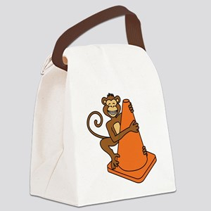 Cone Monkey Canvas Lunch Bag