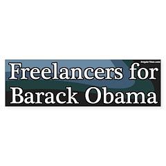 Freelancers for Barack Obama Bumper Bumper Sticker