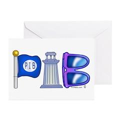 PIB Logo Greeting Cards (Pk of 10)