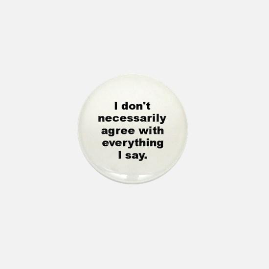 Cute Agree Mini Button